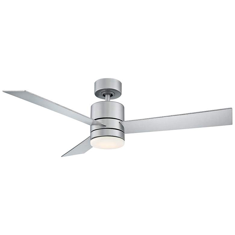 """52"""" Modern Forms Axis Silver LED Wet Ceiling Fan"""