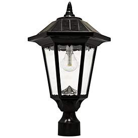 Windsor 20 High Morph Black Solar Led Outdoor Post Light