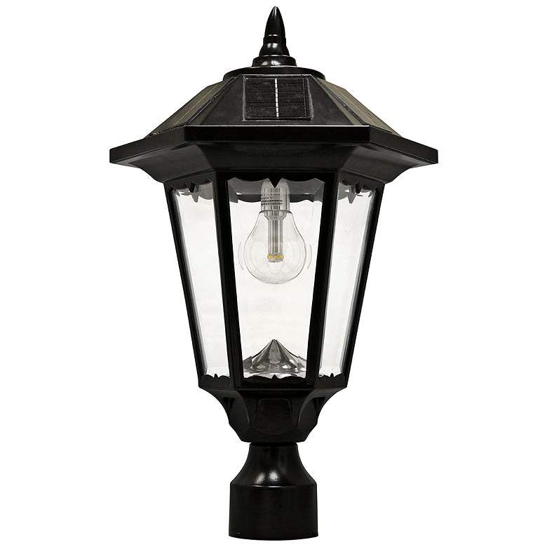 "Windsor 20"" High Morph Black Solar LED Outdoor Post Light"