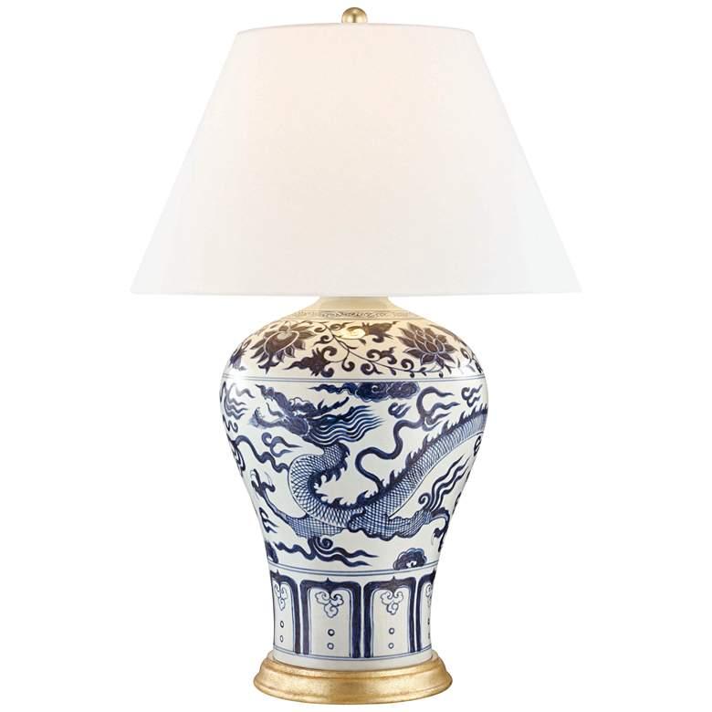Hudson Valley Plutarch Dragon Porcelain Table Lamp