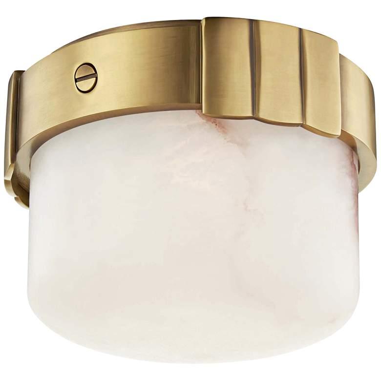 "Hudson Valley Beckett 6"" Wide Aged Brass LED Ceiling Light"
