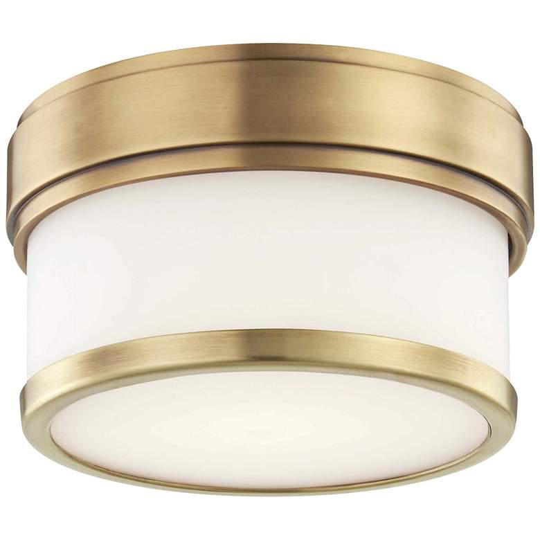 "Hudson Valley Gemma 5"" Wide Aged Brass LED Ceiling Light"