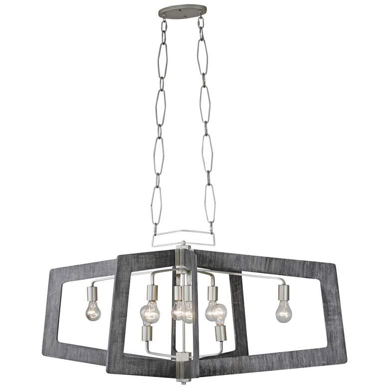 "Varaluz Lofty 48"" Wide Gray Kitchen Island Light Pendant"