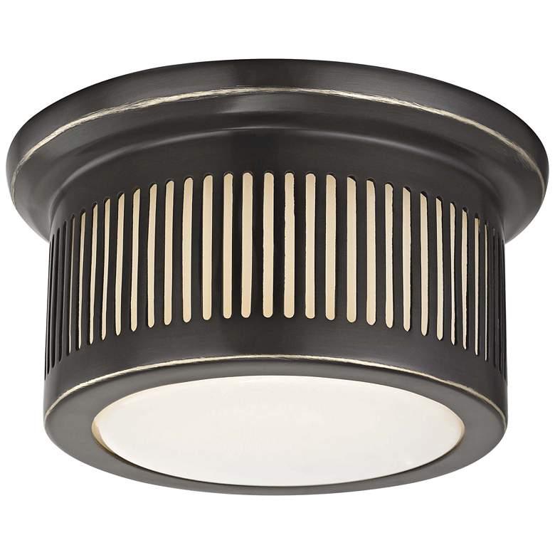 """Hudson Valley Bangor 6"""" Wide Old Bronze LED Ceiling Light"""