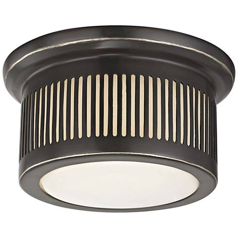 "Hudson Valley Bangor 6"" Wide Old Bronze LED Ceiling Light"