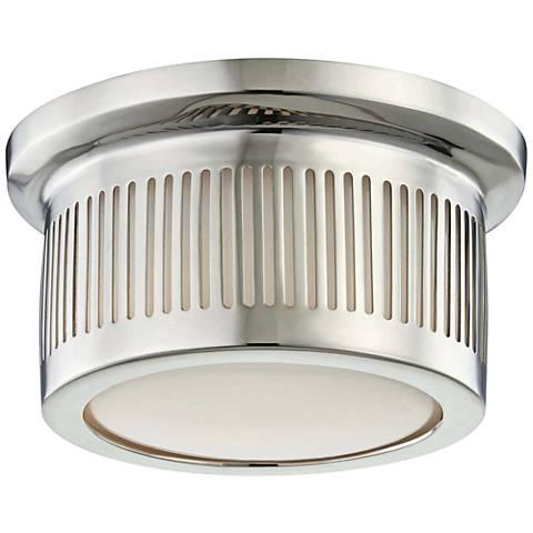 """Hudson Valley Bangor 6""""W Polished Nickel LED Ceiling Light"""