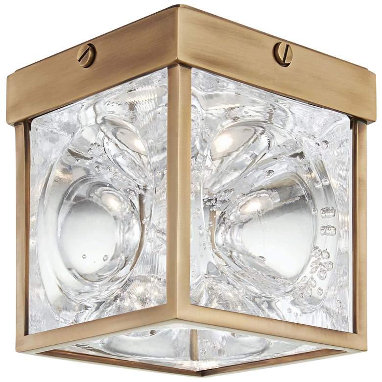 "Hudson Valley Calvin 5"" Wide Aged Brass LED Ceiling Light"