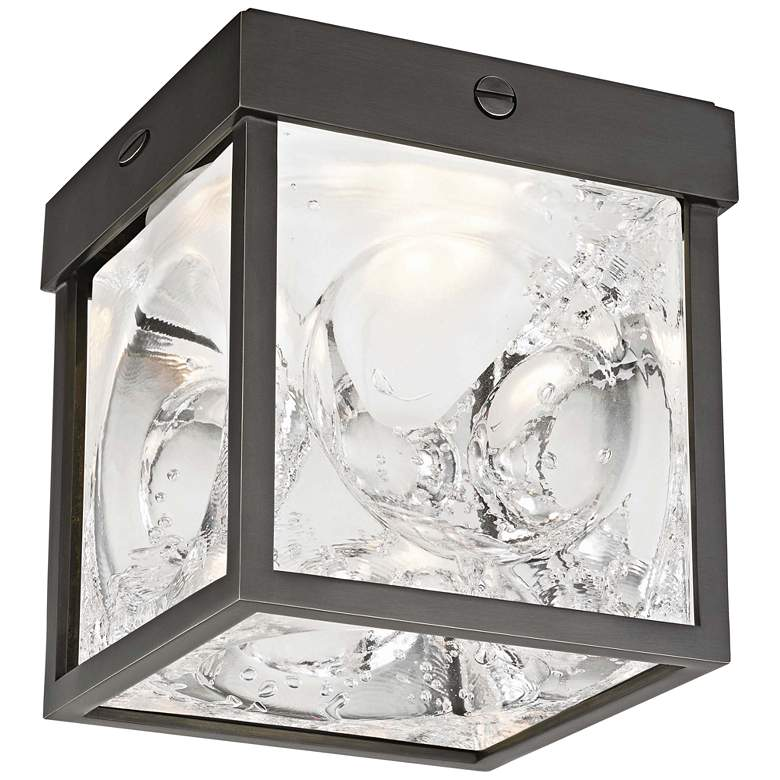 "Hudson Valley Calvin 5"" Wide Old Bronze LED Ceiling Light"