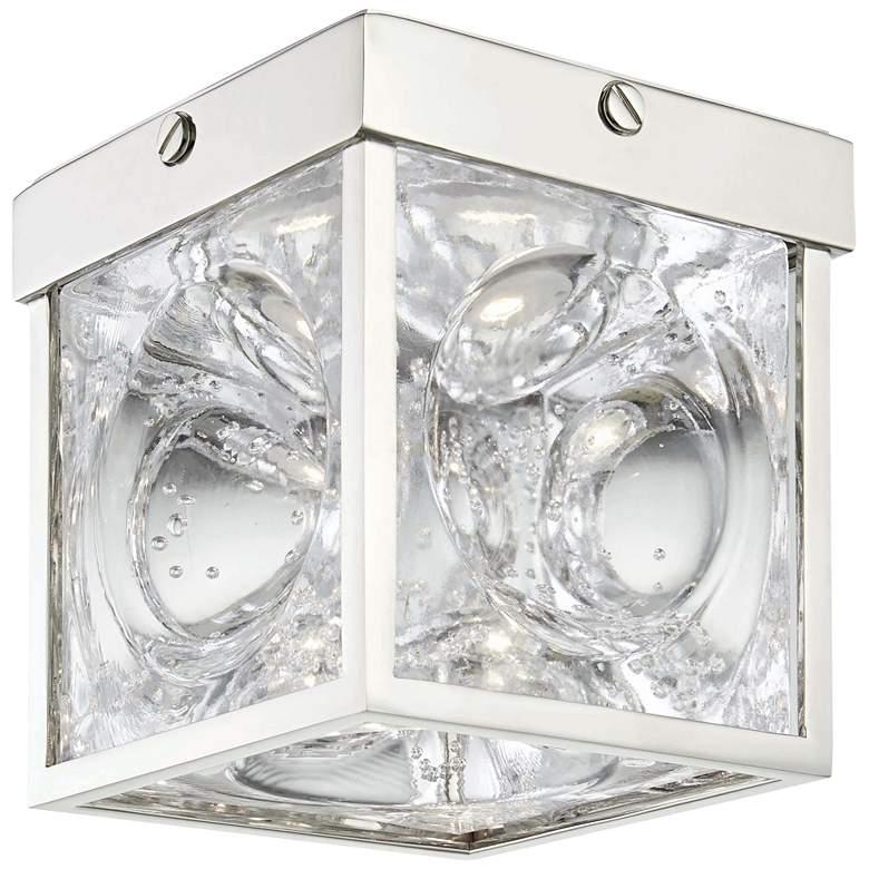 "Hudson Valley Calvin 5""W Polished Nickel LED Ceiling Light"