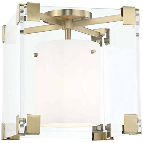 "Hudson Valley Achilles 13"" Wide Aged Brass Ceiling Light"