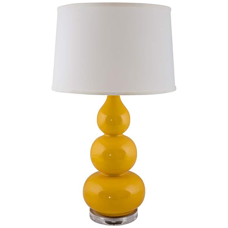 RiverCeramic Triple Gourd Gloss Curry Table Lamp