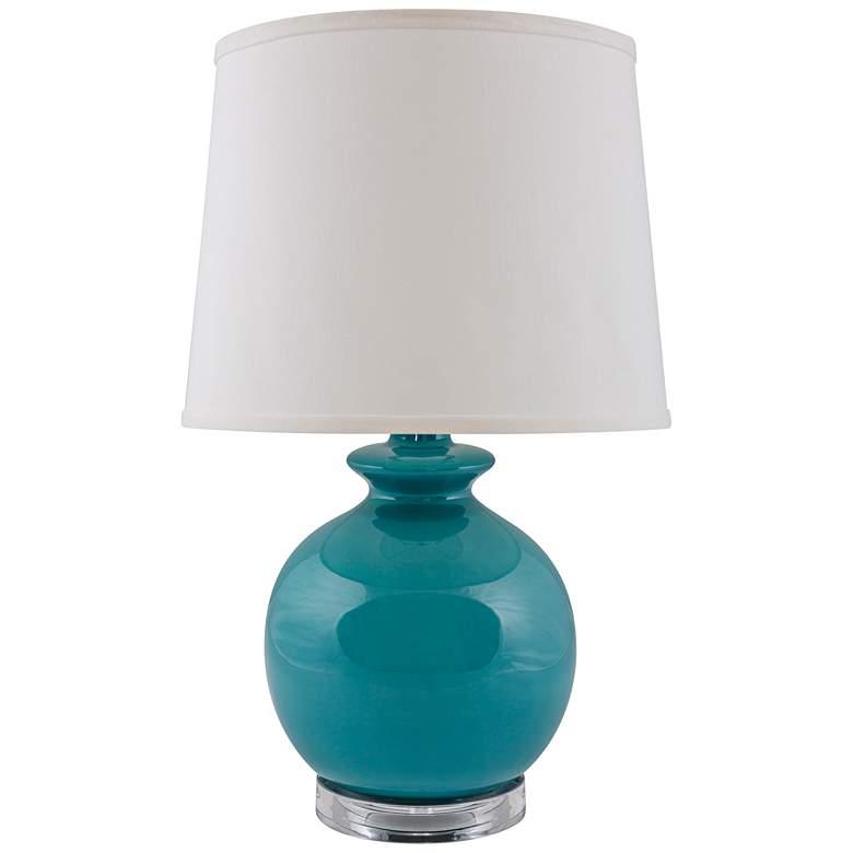 RiverCeramic Bristol Gloss Blue Accent Table Lamp