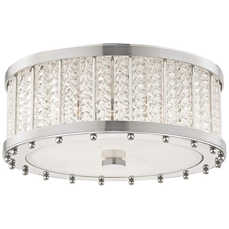 """Hudson Valley Shelby 16"""" Wide Polished Nickel Ceiling Light"""