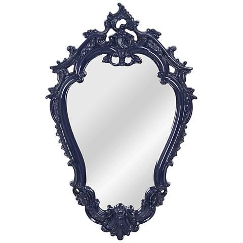 """Victorian Cobalt Blue 22 1/4"""" x 35"""" Framed Wall Mirror"""