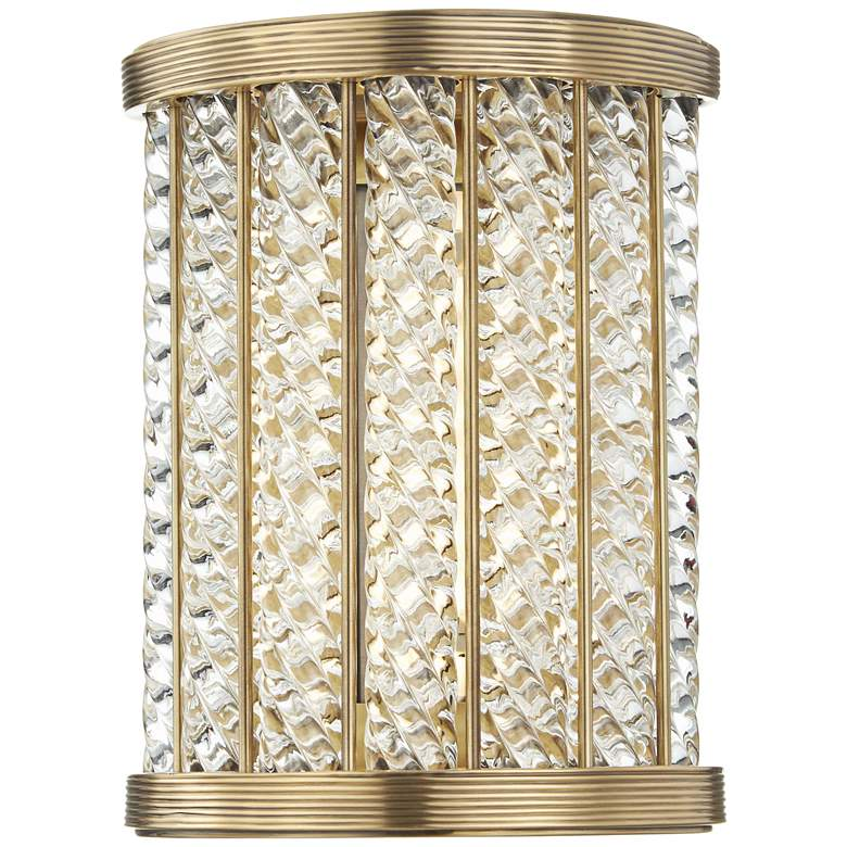 "Hudson Valley Shelby 8 1/2"" High Aged Brass LED Wall Sconce"