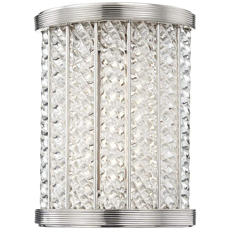 "Hudson Valley Shelby 8 1/2""H Polished Nickel LED Wall Sconce"