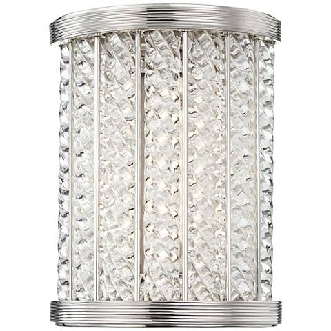 """Hudson Valley Shelby 8 1/2""""H Polished Nickel LED Wall Sconce"""