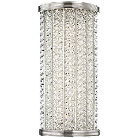 """Hudson Valley Shelby 14""""H Polished Nickel LED Wall Sconce"""