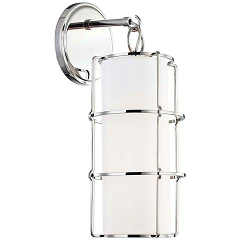 """Hudson Valley Sovereign 16""""H Polished Nickel LED Wall Sconce"""