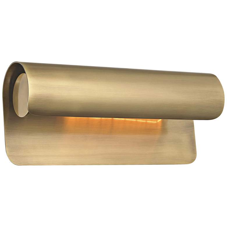 """Hudson Valley Accord 12 3/4"""" Wide Aged Brass Wall Sconce"""