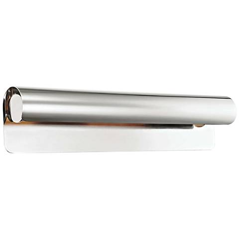 """Hudson Valley Accord 25"""" Wide Polished Nickel Wall Sconce"""