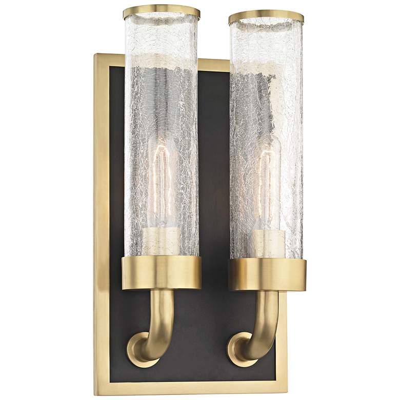 "Hudson Valley Soriano 16 3/4"" High Brass 2-Light"