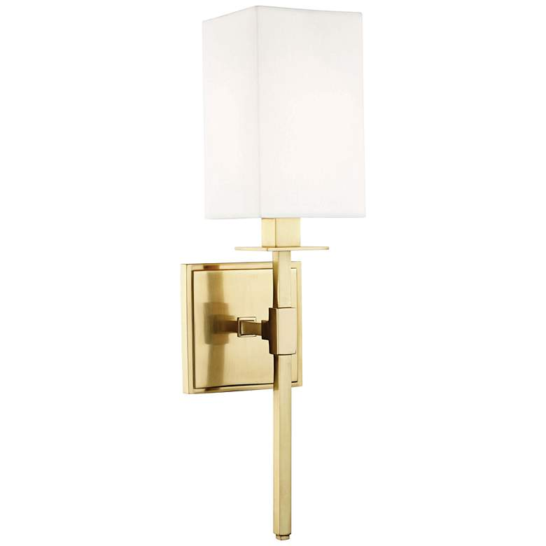 """Hudson Valley Taunton 17"""" High Aged Brass Wall Sconce"""