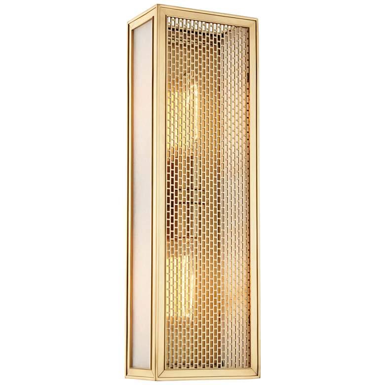 "Hudson Valley Ashford 18""H Aged Brass 2-Light Wall Sconce"