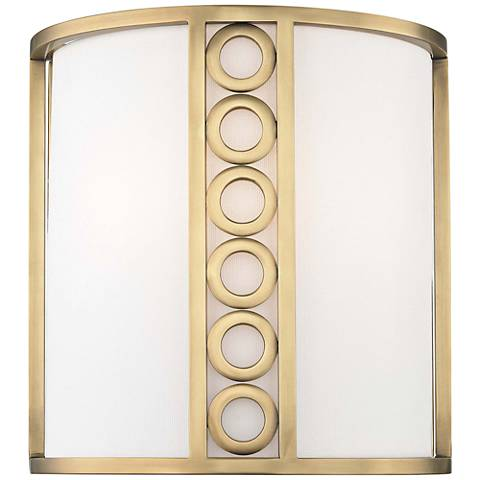 """Hudson Valley Infinity 10 1/2"""" High Aged Brass Wall Sconce"""