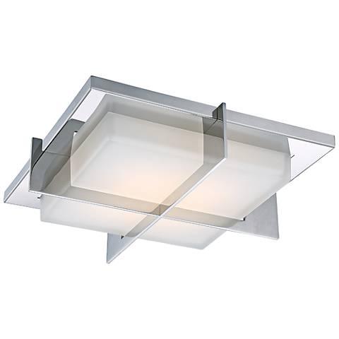 """Razor 15 3/4"""" Wide Stainless Steel LED Ceiling Light"""