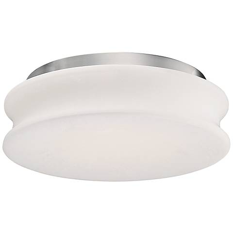"Modern Forms Dune 13 1/4""W Brushed Nickel LED Ceiling Light"