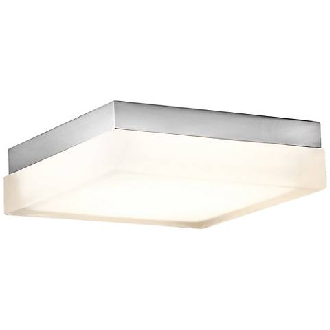 "Modern Forms Matrix 9"" Wide Titanium LED Ceiling Light"