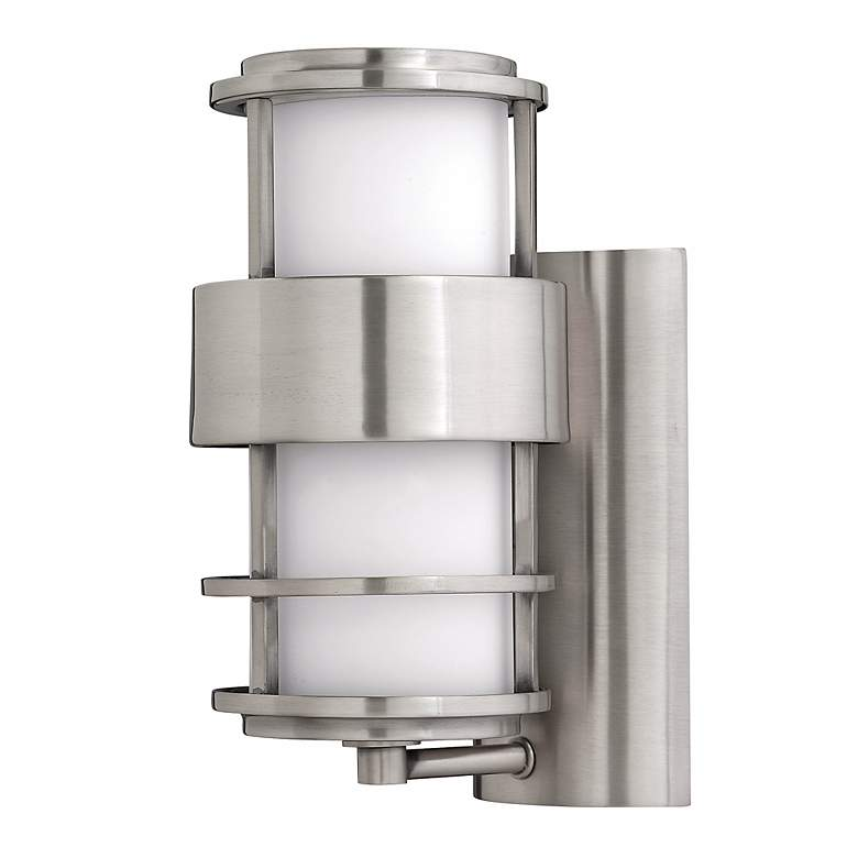 "Hinkley Saturn Stainless Steel 12"" High Outdoor Wall Light"