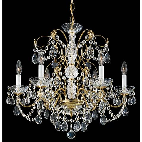 "Schonbek Madison Collection 24"" Wide Crystal Chandelier"