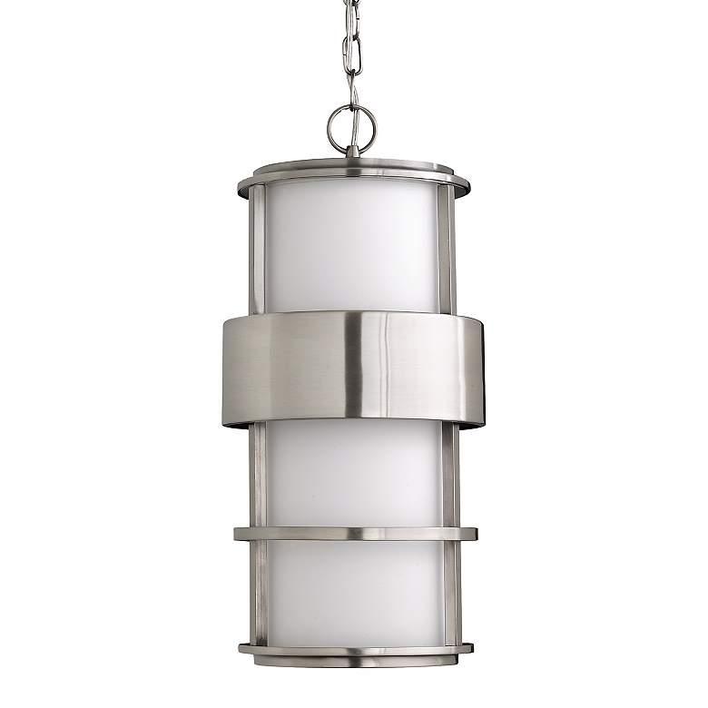 Hinkley Saturn Steel 21 1 2 High Outdoor Hanging Light