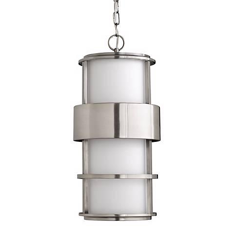 "Hinkley Saturn Steel 21 1/2"" High Outdoor Hanging Light"