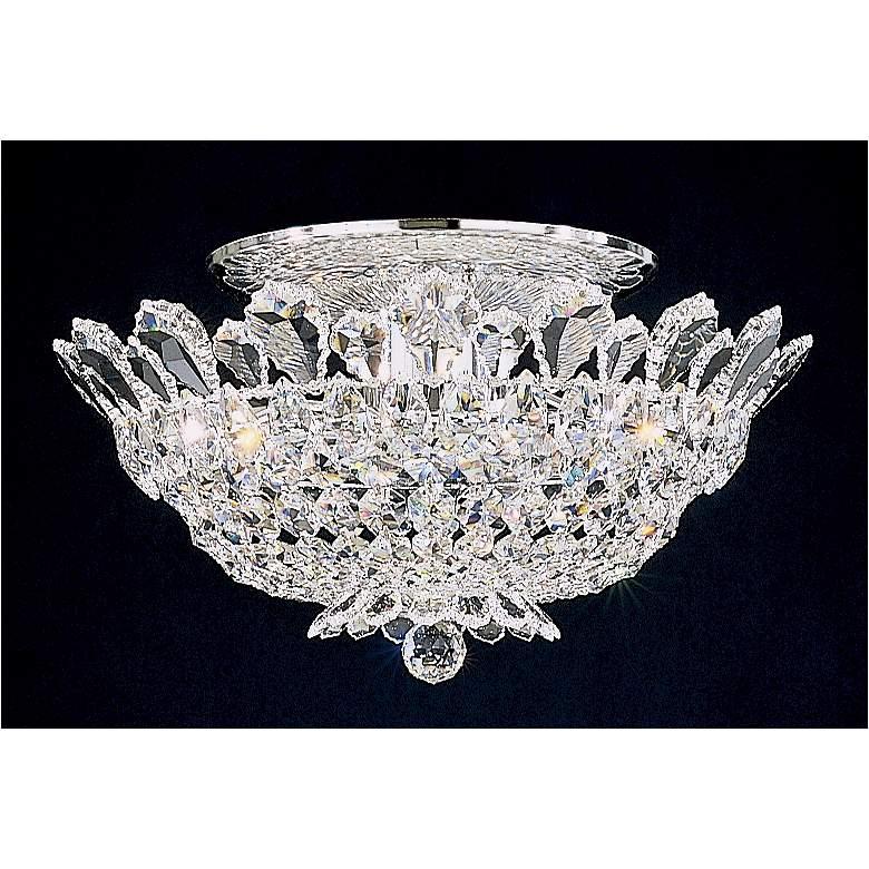 "Schonbek Trilliane 19""W Silver Spectra Crystal Ceiling Light"