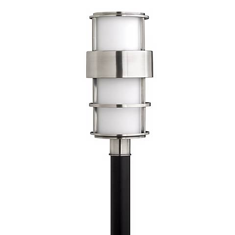 "Hinkley Saturn Stainless Steel 21 3/4"" High Post Mount Light"