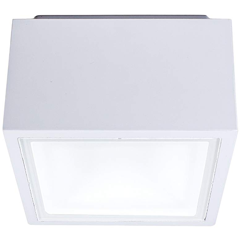 "Modern Forms Bloc 5 1/2""W White LED Outdoor Ceiling Light"