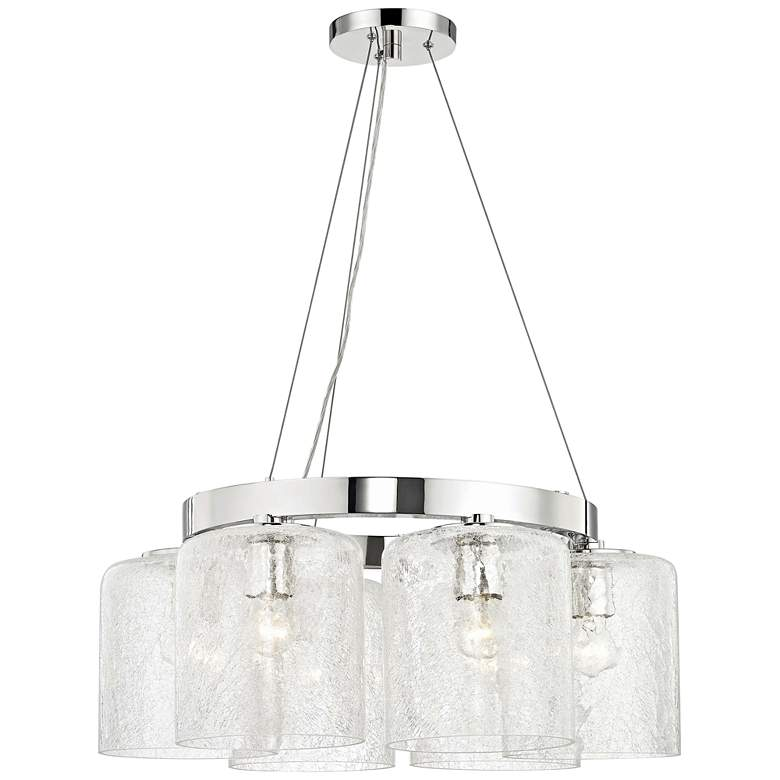"Hudson Valley Charles 24"" Wide Nickel 6-Light Chandelier"