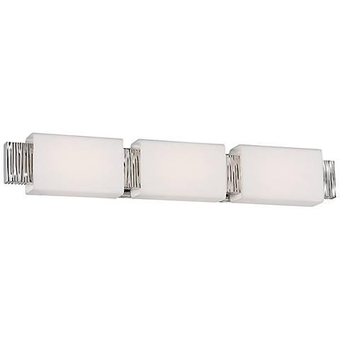 "Aegean 31"" Wide Polished Nickel 3-Light LED Bath Light"