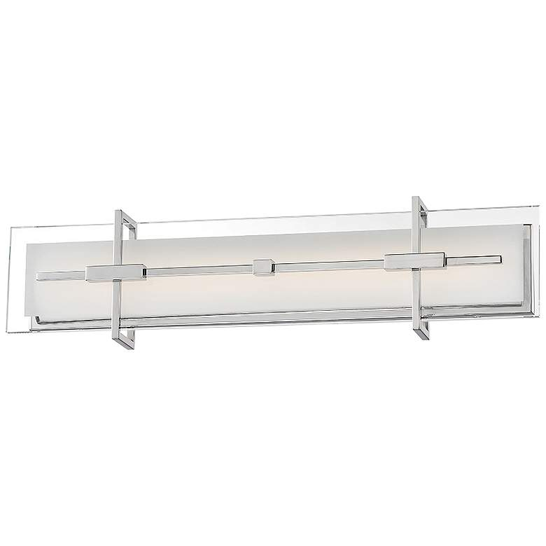 """Modern Forms Seismic 27"""" Wide Stainless Steel LED Bath Light"""