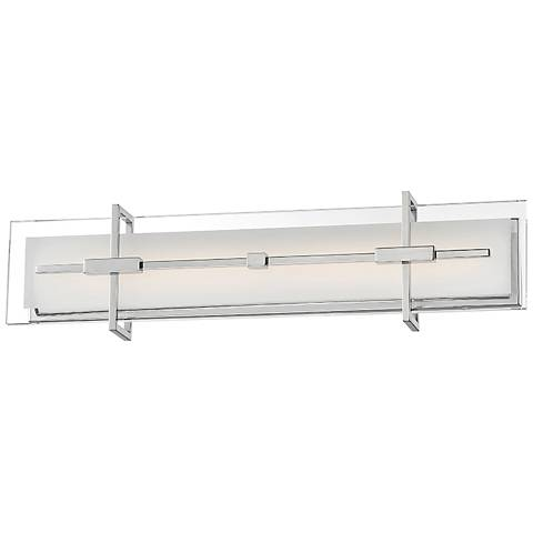 "Modern Forms Seismic 27"" Wide Stainless Steel LED Bath Light"