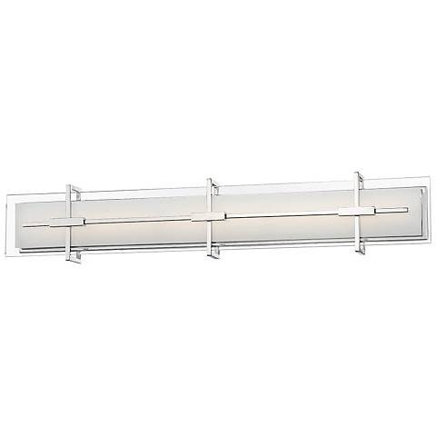 "Modern Forms Seismic 37"" Wide Stainless Steel LED Bath Light"