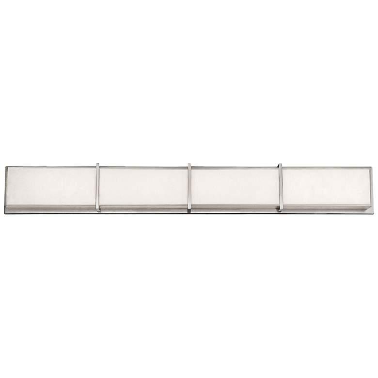 """Modern Forms Bahn 38"""" Wide Brushed Nickel LED Bath Light"""