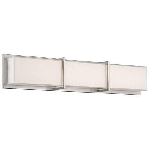 """Modern Forms Bahn 26"""" Wide Brushed Nickel LED Bath Light"""