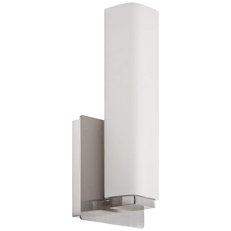 """Modern Forms Vogue 11"""" High Brushed Nickel LED Wall Sconce"""