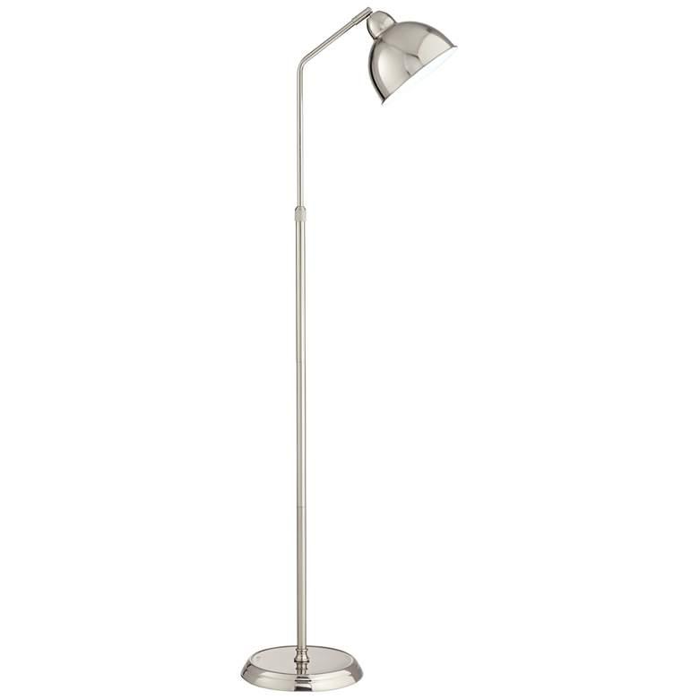 OttLite Covington Brushed Nickel Adjustable LED Floor Lamp