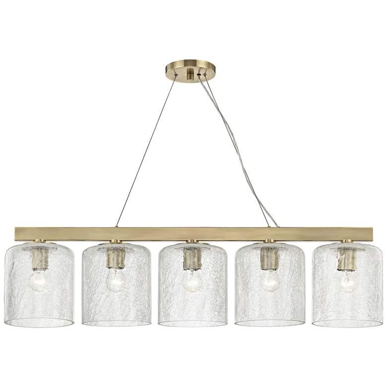 "Charles 40 1/2"" Wide Aged Brass Kitchen Island Light Pendant"