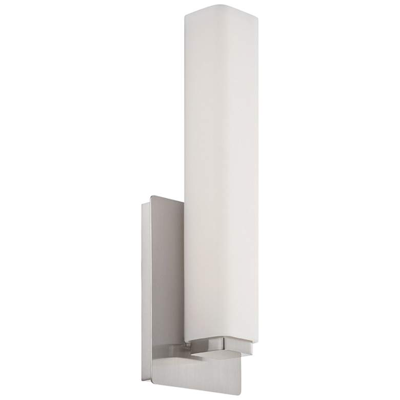 """Modern Forms Vogue 15"""" High Brushed Nickel LED Wall Sconce"""